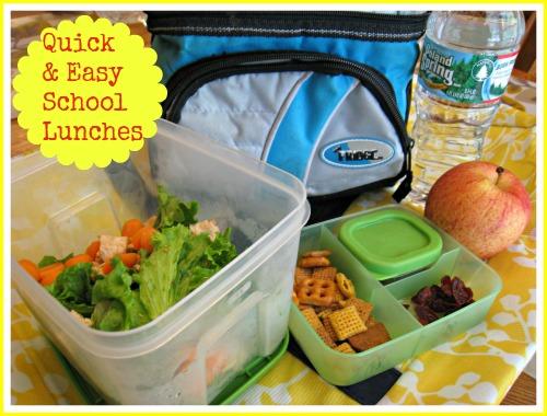 quick, easy, healthy, school, lunch