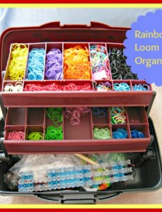 tackle box, organize, rainbow loom