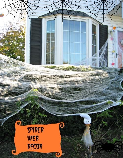 spider web decoration, Halloween