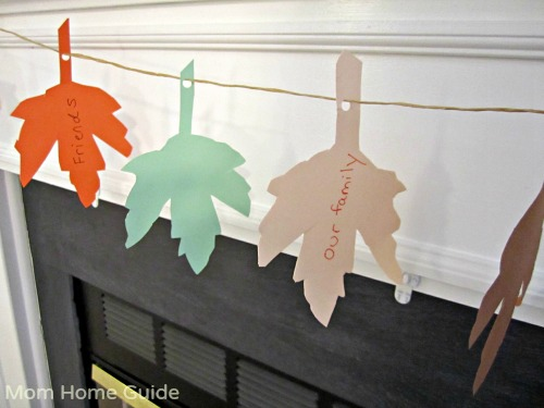thankful, thanksgiving, banner, leaf, fireplace, mantle
