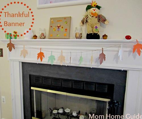 thankful, banner, fireplace banner, thanksgiving, decor, decoration