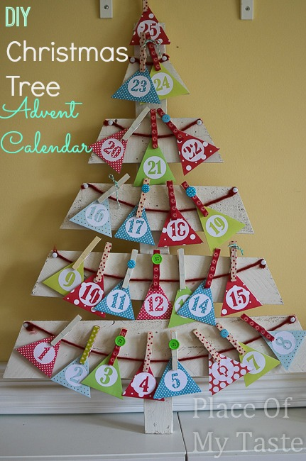 christmas tree, pallet, advent calendar