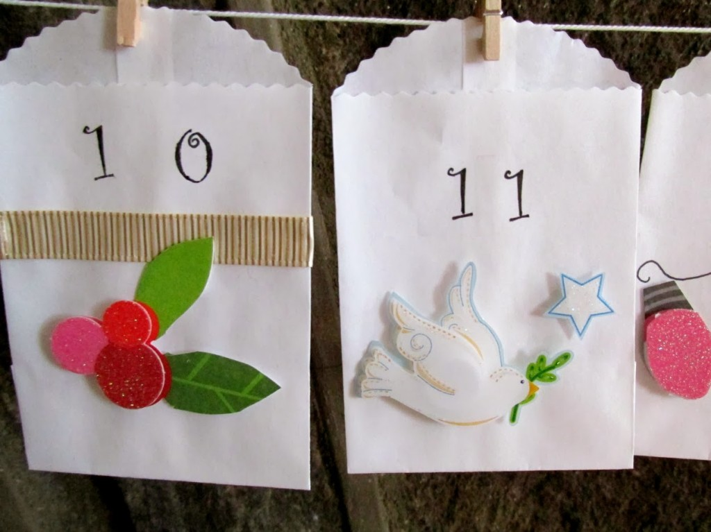 white envelope, advent calendar