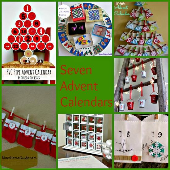 seven, advent, calendar, craft
