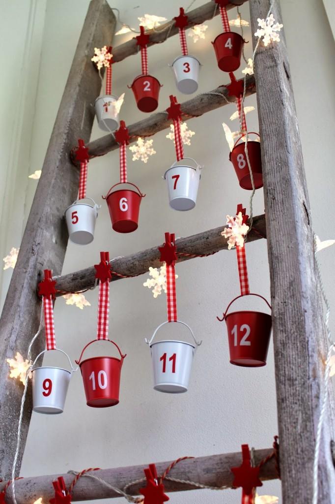vintage ladder, advent calendar