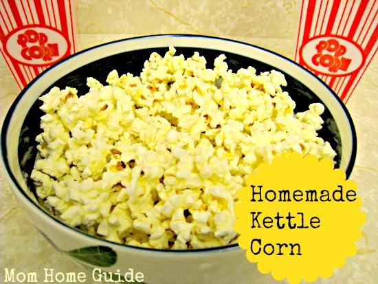 kettle corn, recipe, homemade
