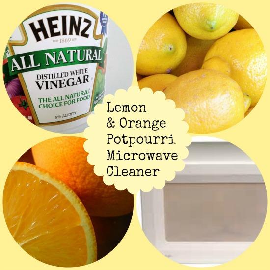 all natural, microwave, vinegar, lemon, orange cleaner