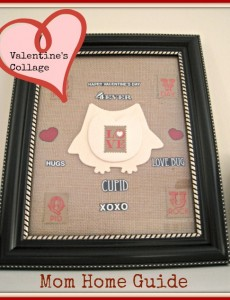 burlap valentine's day collage