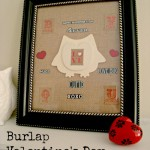burlap, valentine's day, collage