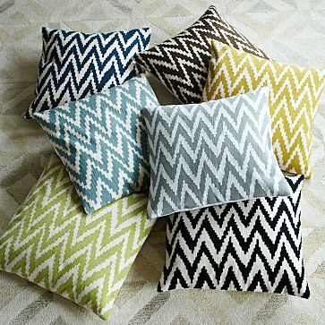 west elm, chevron, pillows