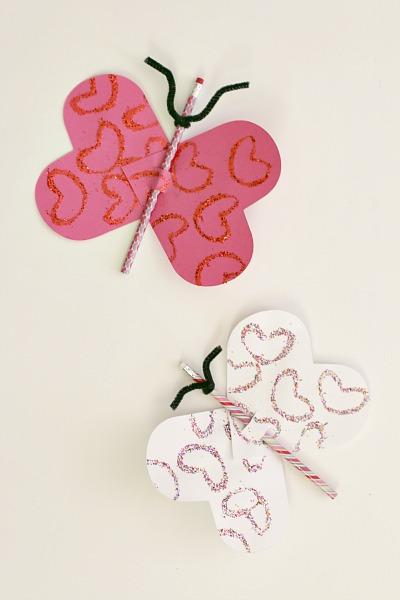 pencil, butterfly, craft, valentine