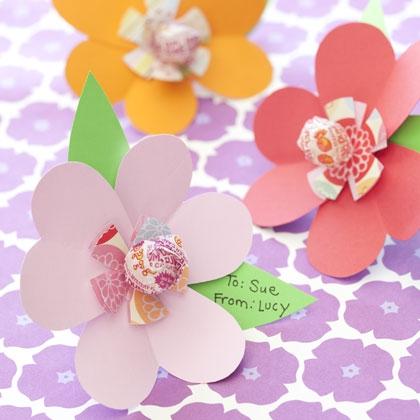 lollipop valentine card, flower