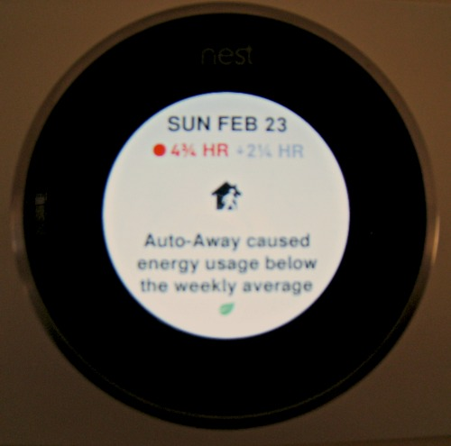 nest thermostat, energy, use