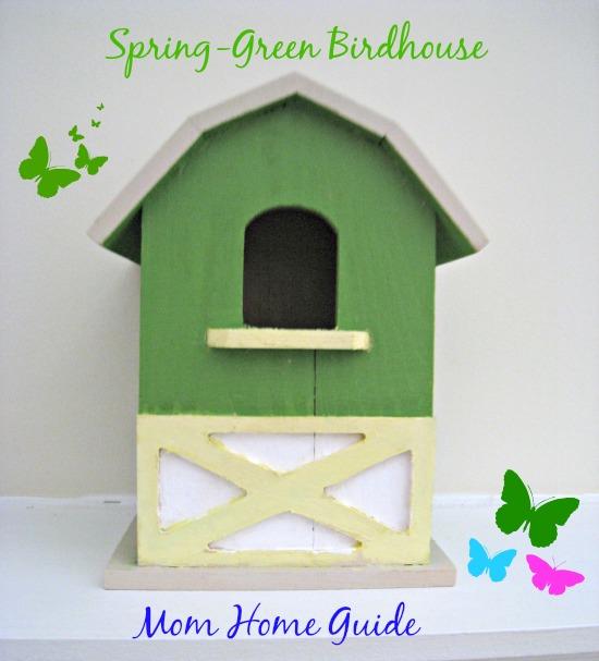 craft, paint, green, bird, house