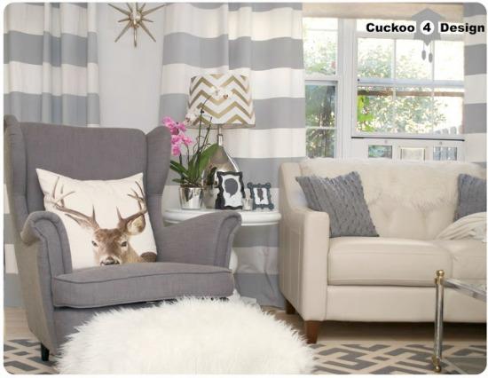 striped, curtain, Ikea