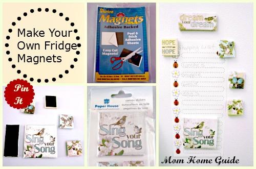make your own, fridge magnets