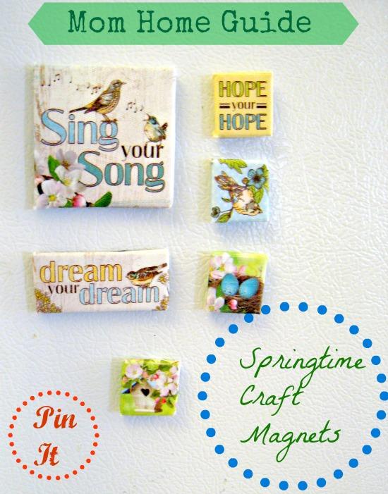 bird magnets, fridge, craft