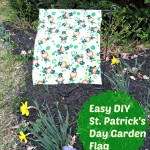DIY Garden Flag for St. Patrick's Day