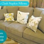 Easy Cloth Napkin Pillows
