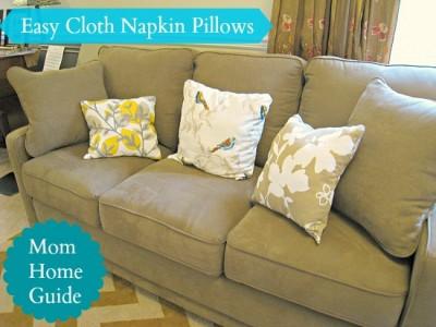 easy, craft, sew, diy, napkin, pillows