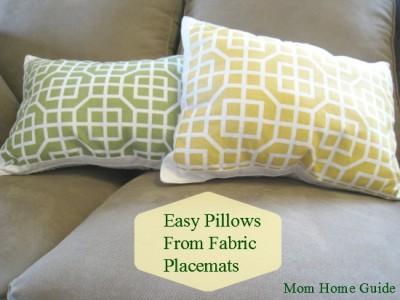 DIY, craft, placemat, pillow, Target