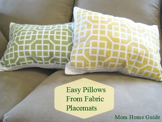 DIY, craft, placemat, pillow, Target