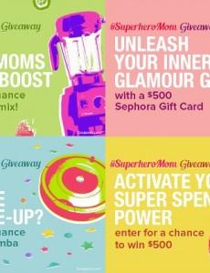 superhero mom, giveaway coupons, sweepstakes, giveaway