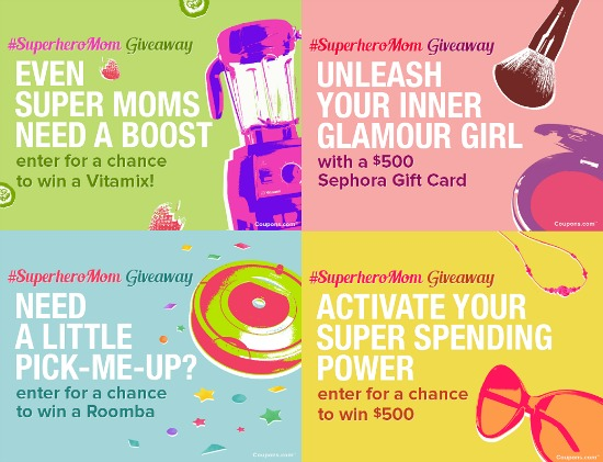 superhero mom, giveaway coupons, sweepstakes, giveaway