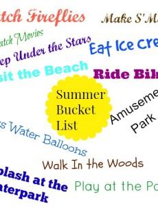 summer, bucket, list, free, printable