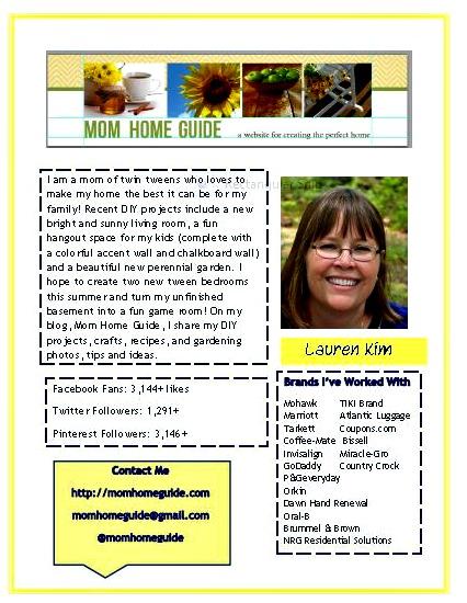 how to, media kit, blog, mom home guide