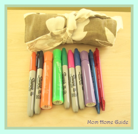 fabric, roll, up, market, pens, teacher, gift