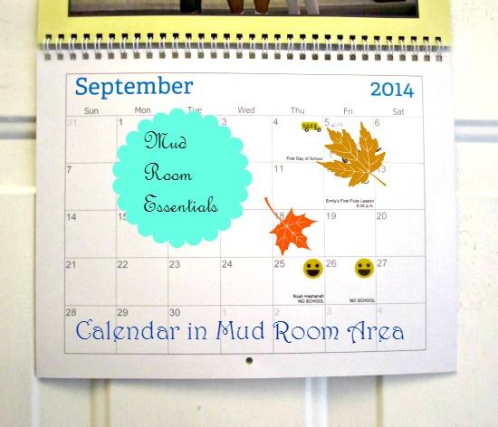 mud room, back to school, calendar