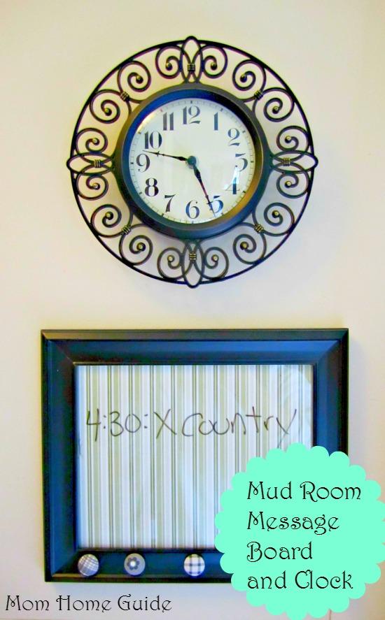 mud, room, clock, message, board, dry, erase
