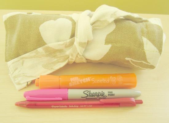 sew, craft, fabric, roll, up, marker, pen, teacher, gift