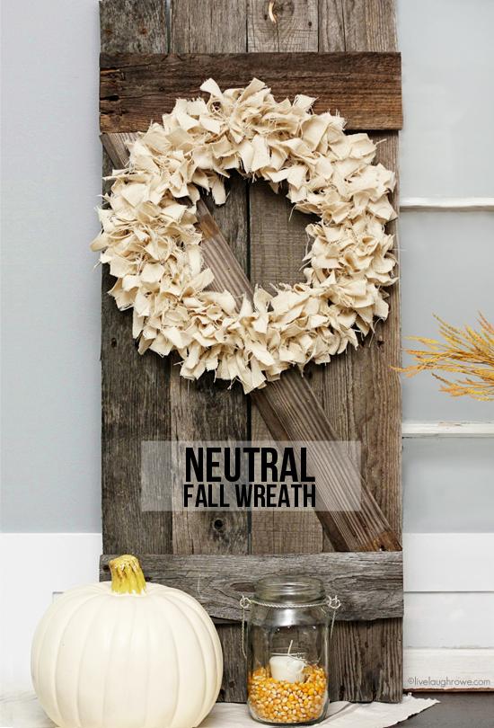 fall wreath, drop cloth