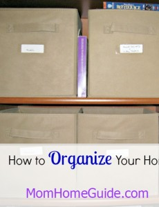how to organize a home