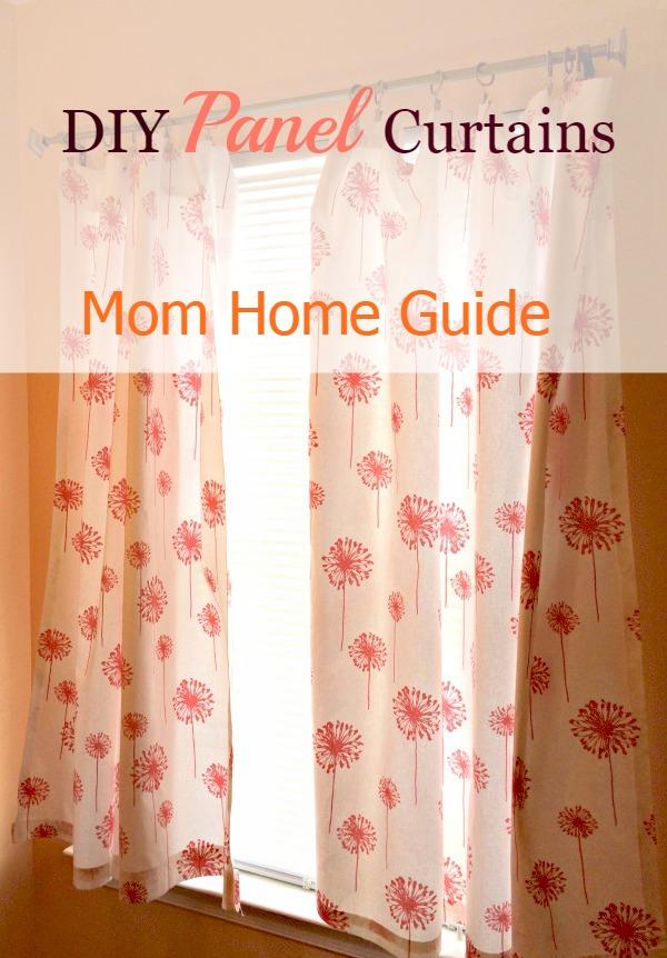 no sew DIY curtains, premier prints