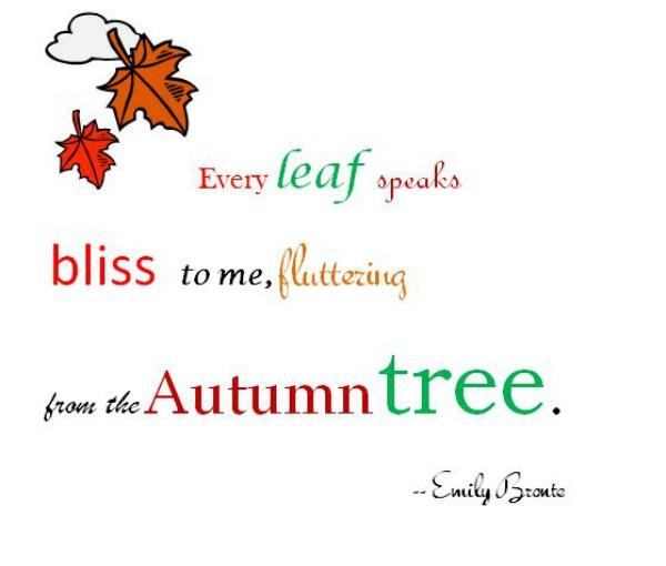 Emily Bronte autumn tree quote