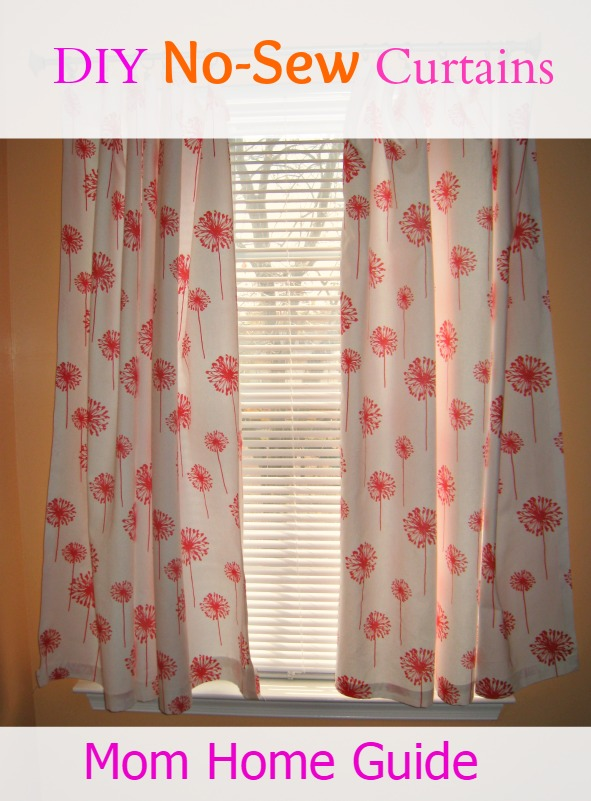 no sew curtain tutorial