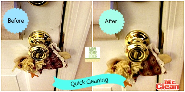 Quick Cleaning with Mr. Clean Magic Eraser