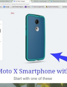 moto x smartphone with teal Hula case