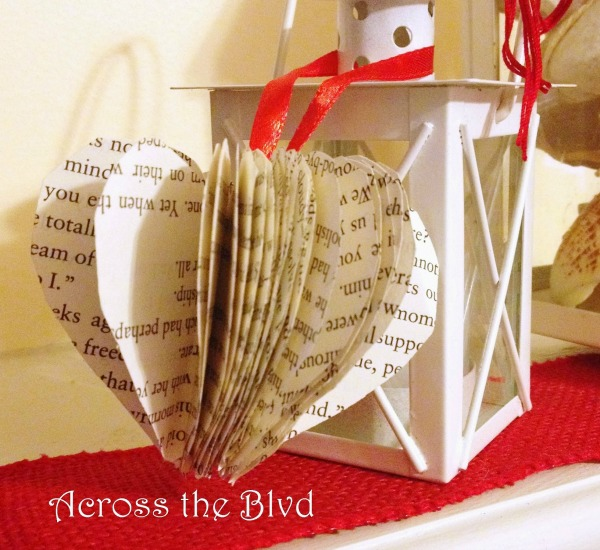 book page heart craft