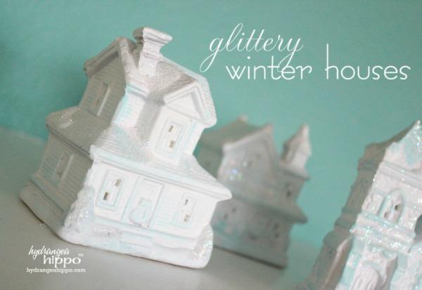 DIY dollar store winter village