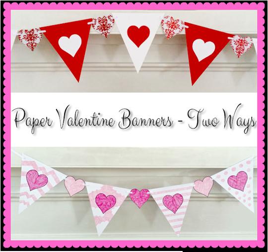 paper valentine banner