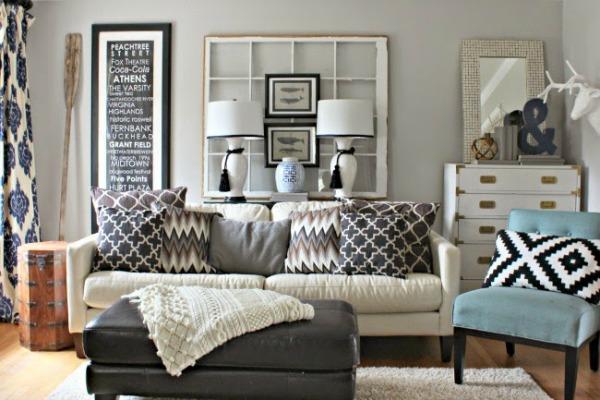 cozy winter seating area