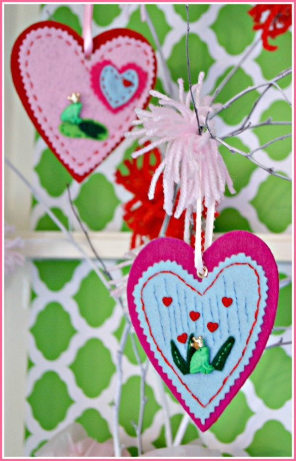 heart felt ornament craft