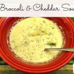 Broccoli  and Cheddar Crock Pot Soup
