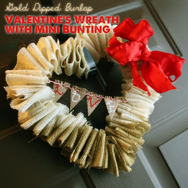 burlap valentines day wreath craft