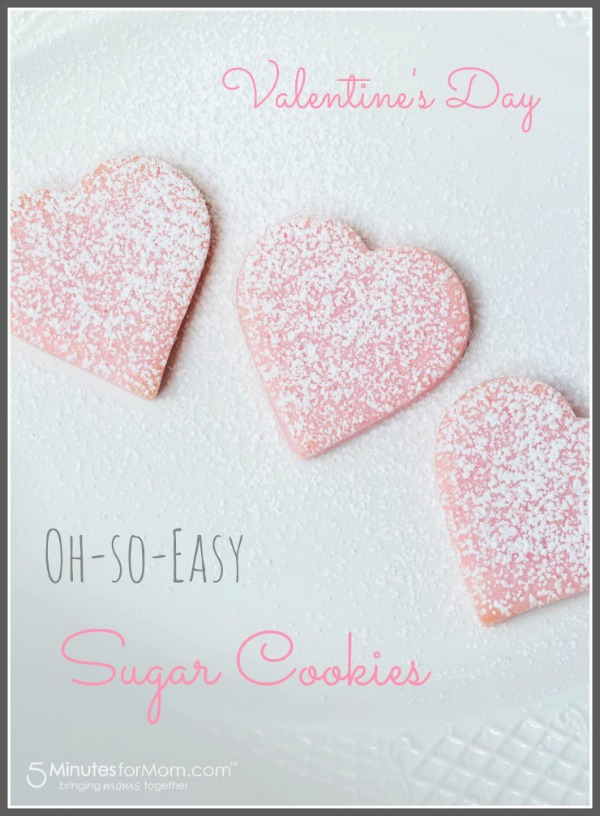 easy, sugar cookie, recipe, valentine