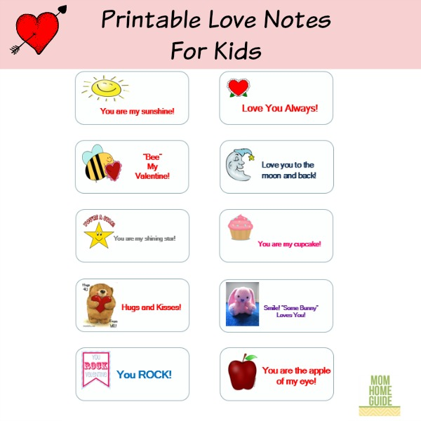 Printable Valentine S Day Love Notes For Kids